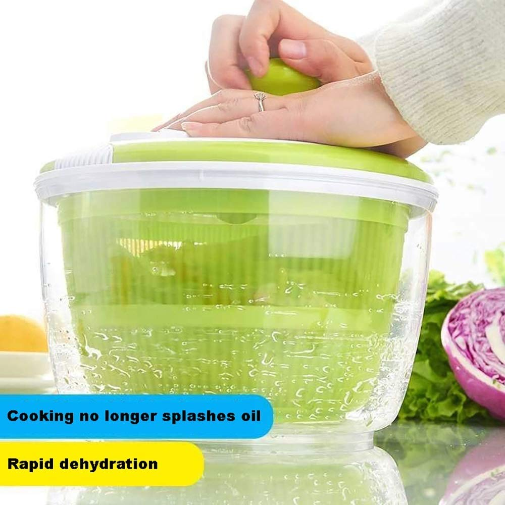 Aich Hand Shake Dehydrator Salad Spinner Vegetable Dryer Large Capacity Water Machine Commercial Dewatering Bucket Salad Dry Drain Bucket by Aich