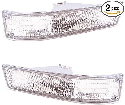Driver and Passenger Park Signal Front Marker Lights Lamps Lenses Replacement for Chevrolet GMC Van 5977271 5977272 AutoAndArt