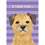Waggy Tails - Mini Notelets - Border Terrier