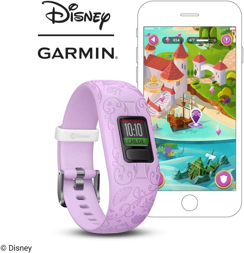 2 Disney Princess Purple Bracelet dActivit/é pour Enfants bande r/églable Garmin V/ívofit Jr /à partir de 6+