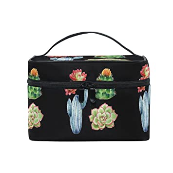 Amazon.com: Maquillaje bolsa de cactus plantas crasas de ...