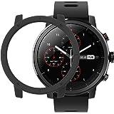 Sikai Xiaomi Huami Amazfit Smart Watch Stratos 2 Custodia Protettiva PC Difficile Slim Colorful Conchiglia Bumper Case Cover per Amazfit Stratos Smart Watch 2 Protettore Caso (Nero)
