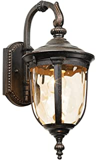 Bellagio bronze 25 high post light and pier mount adapter bellagio 16 12 high downbridge outdoor wall light aloadofball Image collections