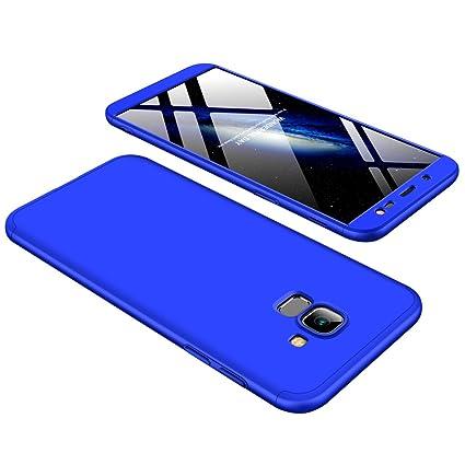 diseño novedoso garantía de alta calidad diseño novedoso Samsung Galaxy J6 2018 Funda - BCIT Funda Samsung Galaxy J6 2018 360 Grados  Integral Para Ambas Caras + Cristal Templado, Luxury 3 in 1 PC Hard Skin ...