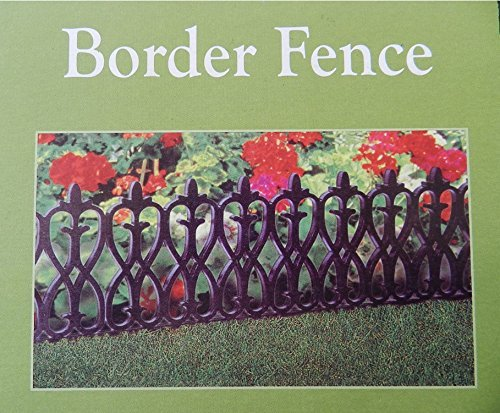 4 pieces per set 2 Sets French Inspired Black Border Fencing
