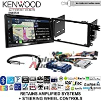 Volunteer Audio Kenwood DNX574S Double Din Radio Install Kit with GPS Navigation Apple CarPlay Android Auto Fits 2003-2005 Chevrolet Blazer, 2003-2006 Silverado, Suburban