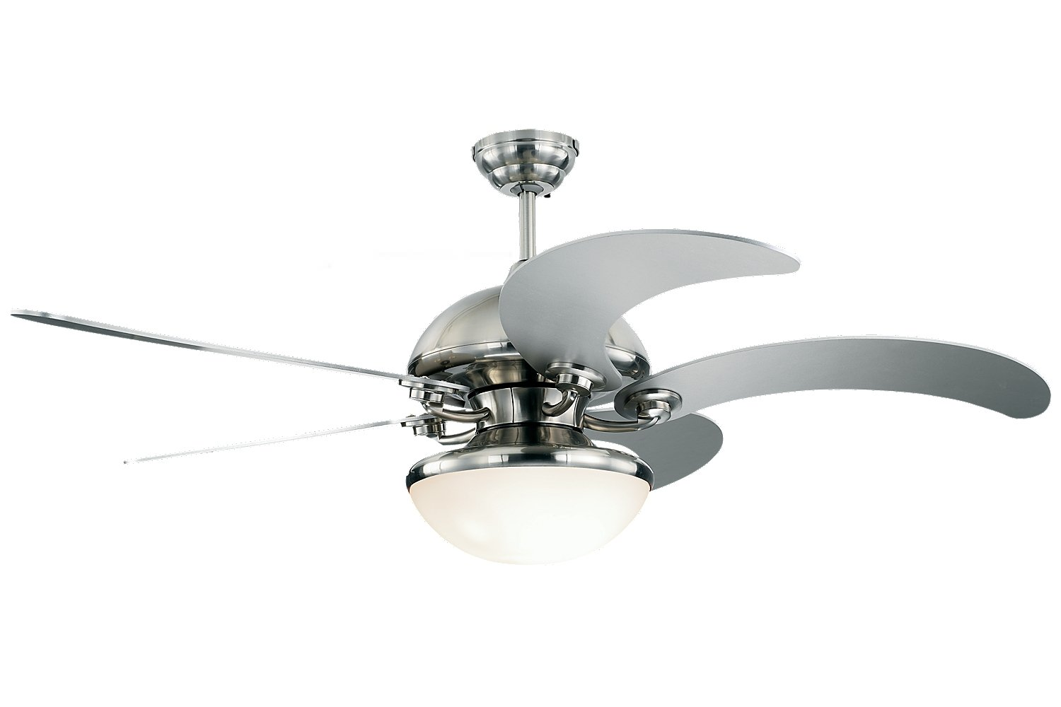 ceiling with shade fan fashionable contemporary design dlrn silver light