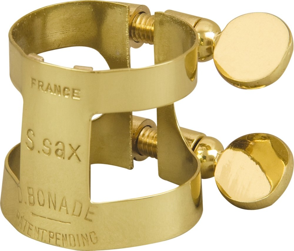 Bonade Soprano Saxophone Ligatures Lacquer - Inverted - Ligature Only