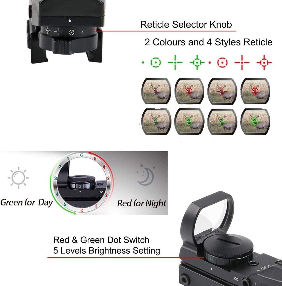 Svbony Red Dot Visier 1x22x33 Leuchtpunktvisier 20mm Rotpunktvisier Schiene Reflexvisier mit 5 Ebene Helligkeitsregelung