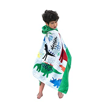 Bavilk Children Dinosaur Hooded Beach Swim Towel