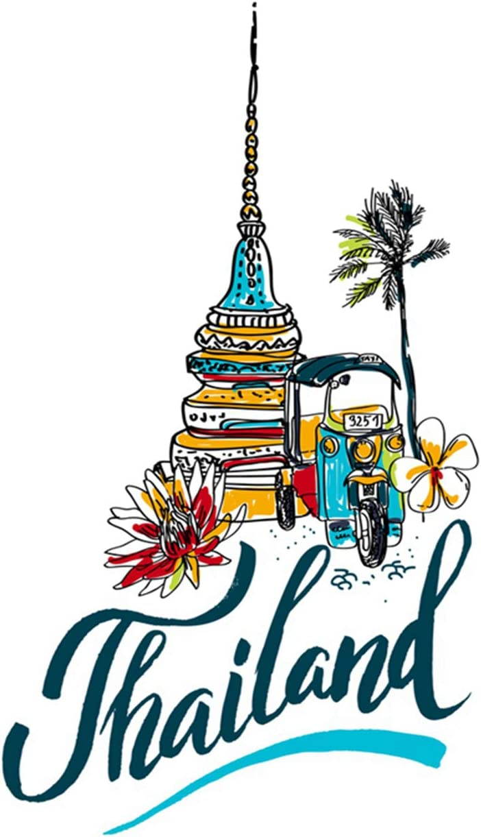 Zomike Poster Wall Art Bangkok of for Traveling to Thailand Travel Thai Prints Artwork Unframed Modern Home Decor for Living Dining Dorms Office 24 X 36 Inches