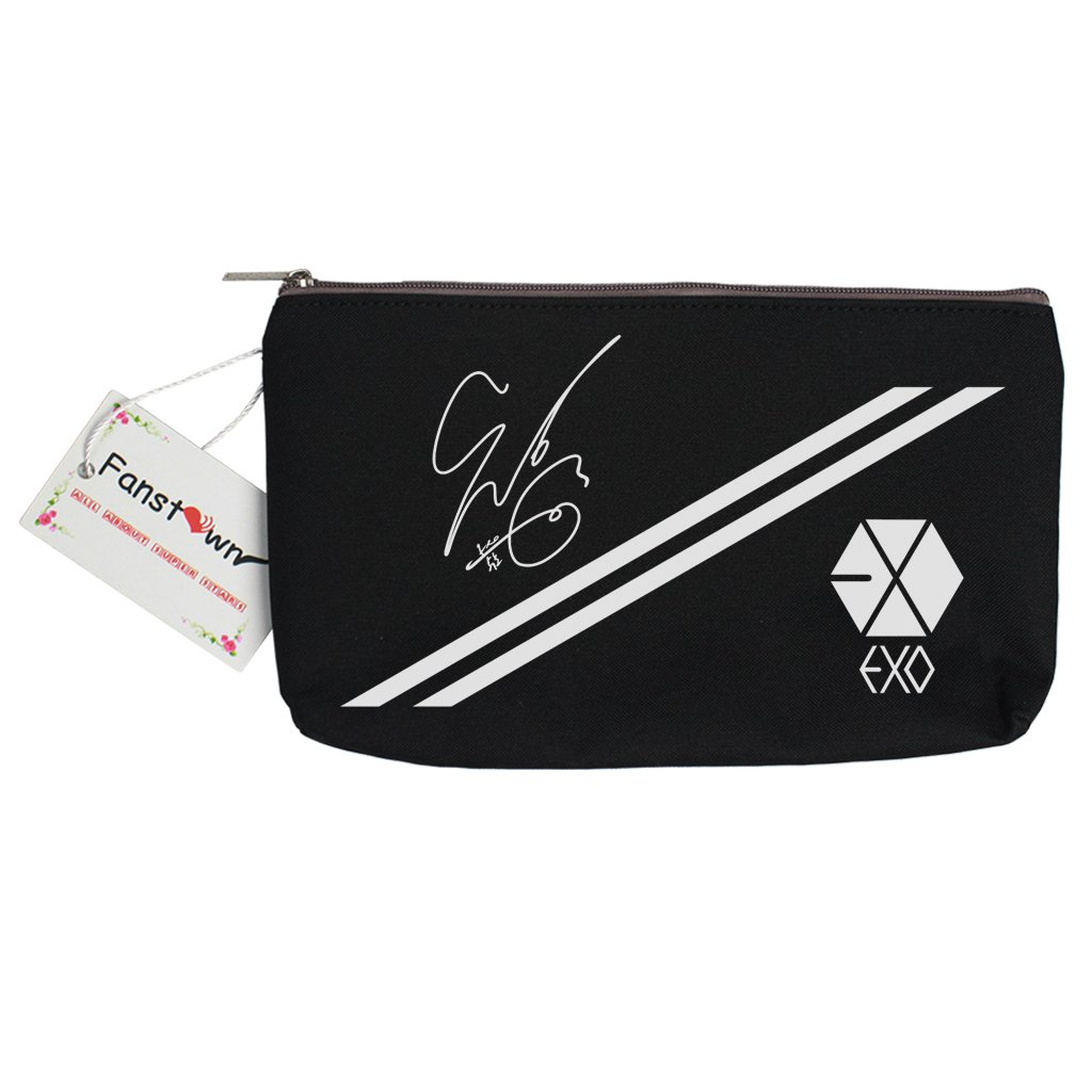 Fanstown EXO Kpop Pencil case Canvas Messenger Bag Signature with lomo Cards