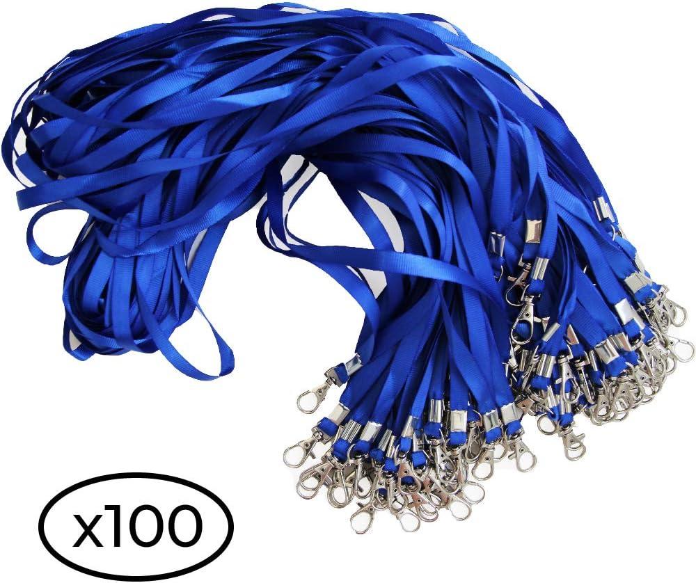 ID badge cordini per badge//targhette 50PIECE, blu