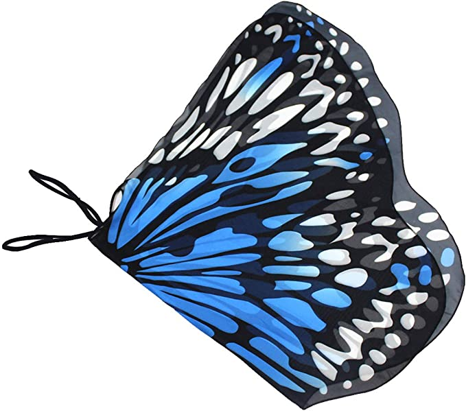 Novias Choice Kids Butterfly Wing Shawl Halloween Costume Play Cape Dress Up Dance Photo Shooting Wings