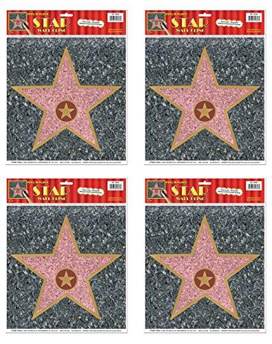 Beistle S55328AZ4 Star Peel 'N Place 4 Piece -