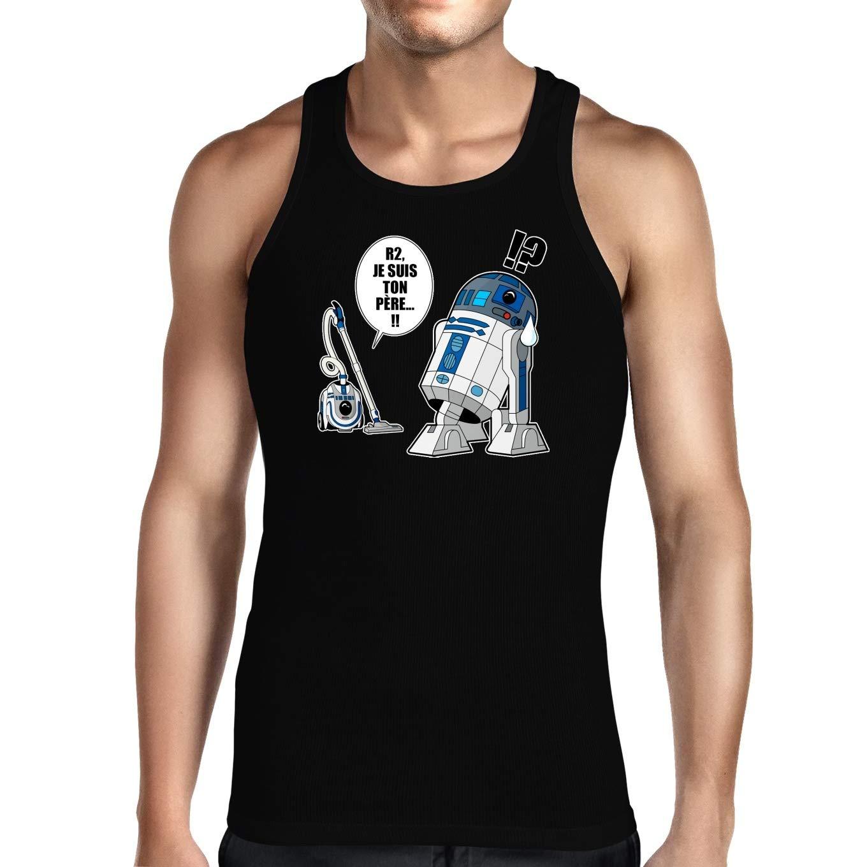 Débardeurs Star Wars parodique R2-D2 Le Droïd d'Anakin Luke Skywalker : R2, Je suis Ton père (VF Classique) (Parodie Star Wars)