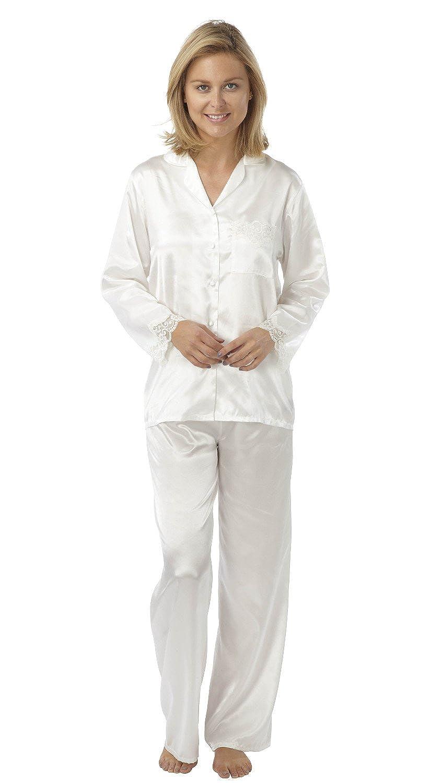 f3fc5893fec4 Ladies Satin 2 Piece Pyjamas - Sizes 10 12