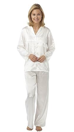 Ladies Satin 2 Piece Pyjamas - Sizes 10 12 1a4d873f9