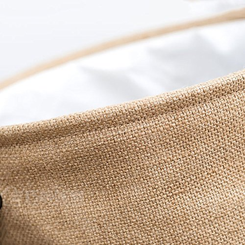 Thicken linen laundry hamper,Household storage bin storage basket fold laundry basket for college dorm-C 35x45cm(14x18inch) by AMYDREAMSTORE (Image #6)