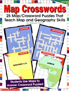Amazoncom Us Map Crosswords Grades 4 8 9780590769921 - Crossword-puzzle-maps-in-us-history-answers