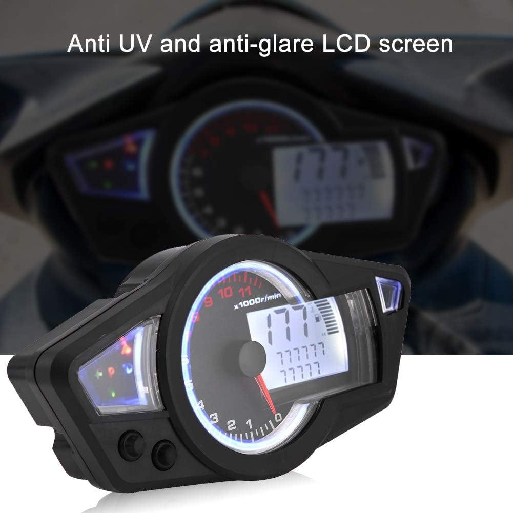 Rbaotech 12V Universel Moto Affichage LCD Num/érique Compteur Kilom/étrique Tachym/ètre 15000 TR//Min avec Capteur de Vitesse