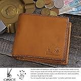 (オリーチェ) ORICE バケッタレザー 二つ折り財布 ブラウン 1191 メンズ box型小銭入れ イタリアンレザー