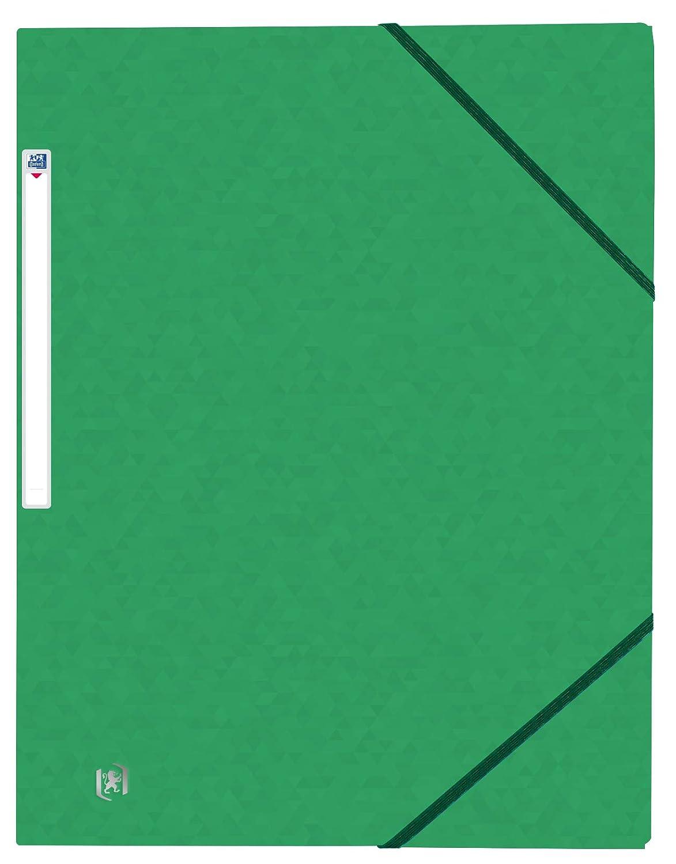 OXFORD TopFile Lot de 50 Chemises Cartonn/ées 3 Rabats Format A4 Fermeture Elastiques Jaune