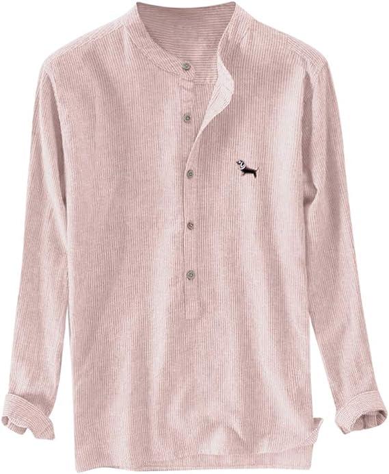 Alaso - Camisa para Hombre de otoño e Invierno, Cuello en V ...