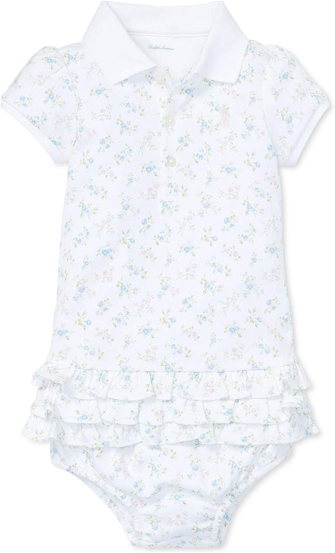 Ralph Lauren Baby Girl Ruffled Polo Dress & Bloomer Set