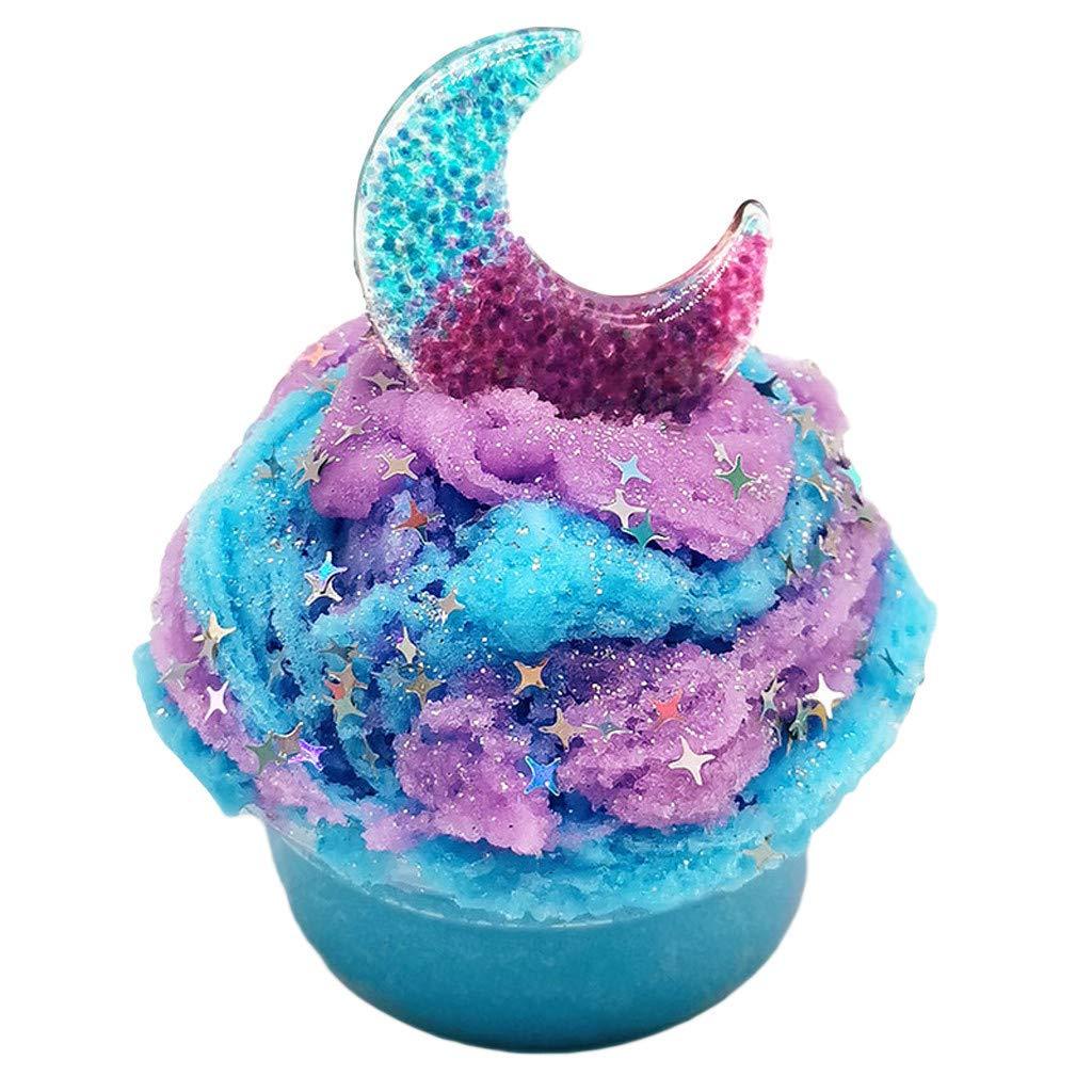 Blau Fluffy Fluff Floam Slime Schleim für Stressabbau