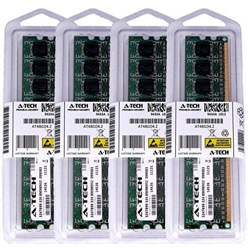 8GB KIT (4 x 2GB) For EliteGroup (ECS) Motherboard G33T-M2 G43T-M G45T-M2 V1.0 V1.0A GF8100VM-M3 GF8200A GF8200SM-M3 IC43T-A. DIMM DDR2 NON-ECC PC2-5300 667MHz RAM Memory. Genuine A-Tech Brand.