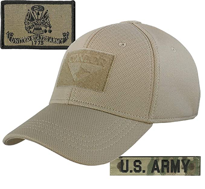 c85ed6aca0ed3 Amazon.com  Army Patches and Condor Fitted Operator Hat Bundle - Tan ...