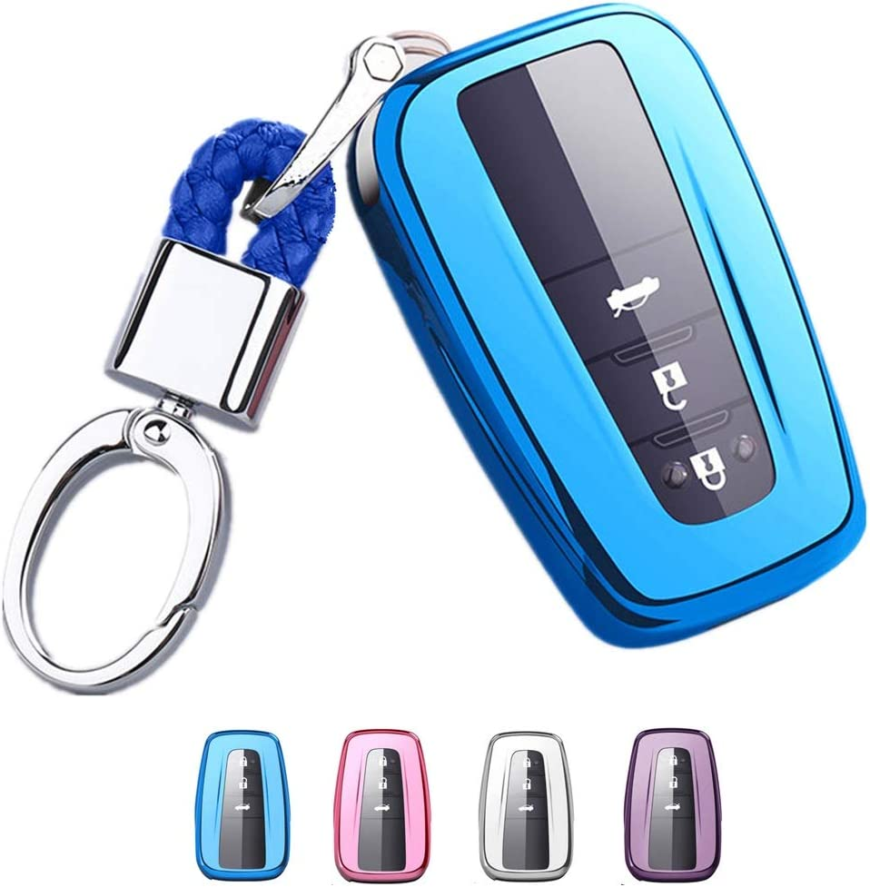 Metal Alloy Key Case Cover Protector Shell Car Keychain Accessories Full Protection for Camry XV70 2018//Izoa//Crown//Corolla//Highlander//Ralink//CHR Toyota-A-Black Key Fob Cover Holder for Toyota