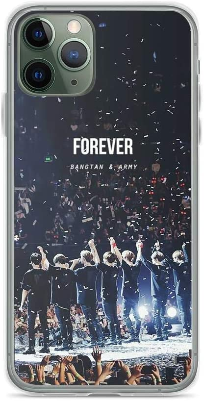 Amazon Com Diskoer Compatible With Iphone 11 Pro Max Case Bangtan And Army Forever Concert Ending Bts Kpop Fan Pure Clear Phone Cases Cover