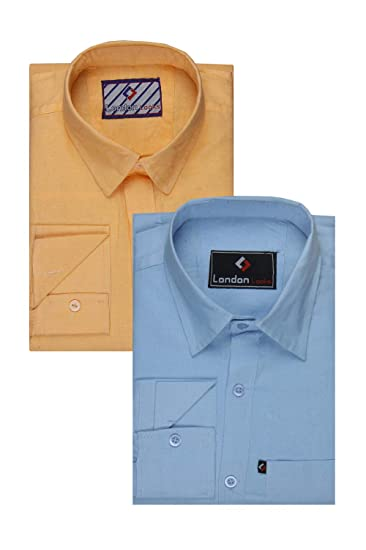 5d11d3eea62 London Looks Multi Color Formal Shirts (Combo of 2) (Xx-Large ...