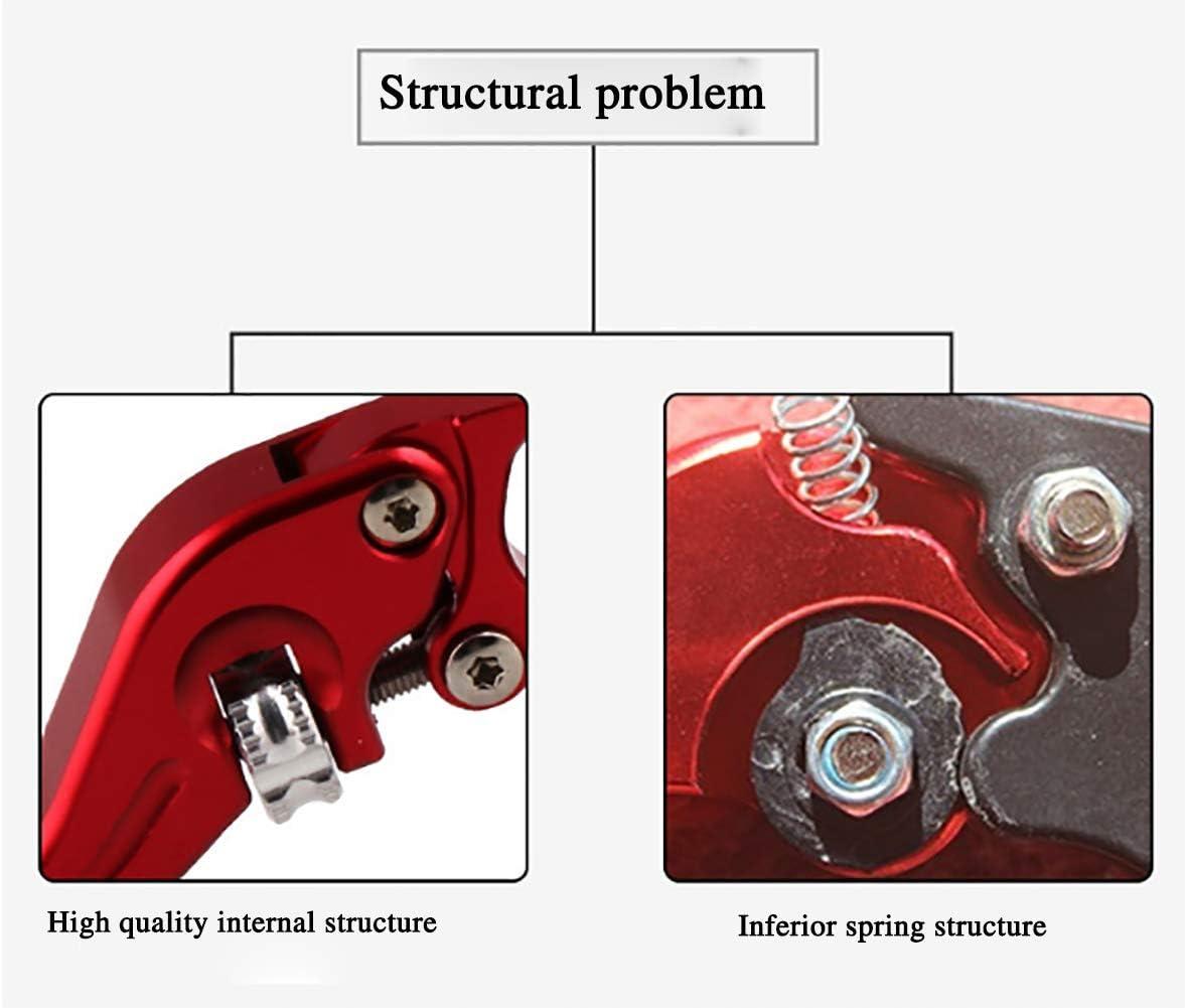 CNC-Hupenhandbremse,Red TBAN 1 Paar Motorrad Kupplungshebel Bremsgriff Universal Aluminium Bremshebel Griff Doppelscheibe Red