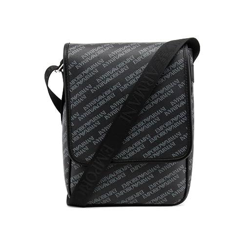 soldes styles de mode gamme exceptionnelle de styles Emporio Armani sac homme bandoulière noir