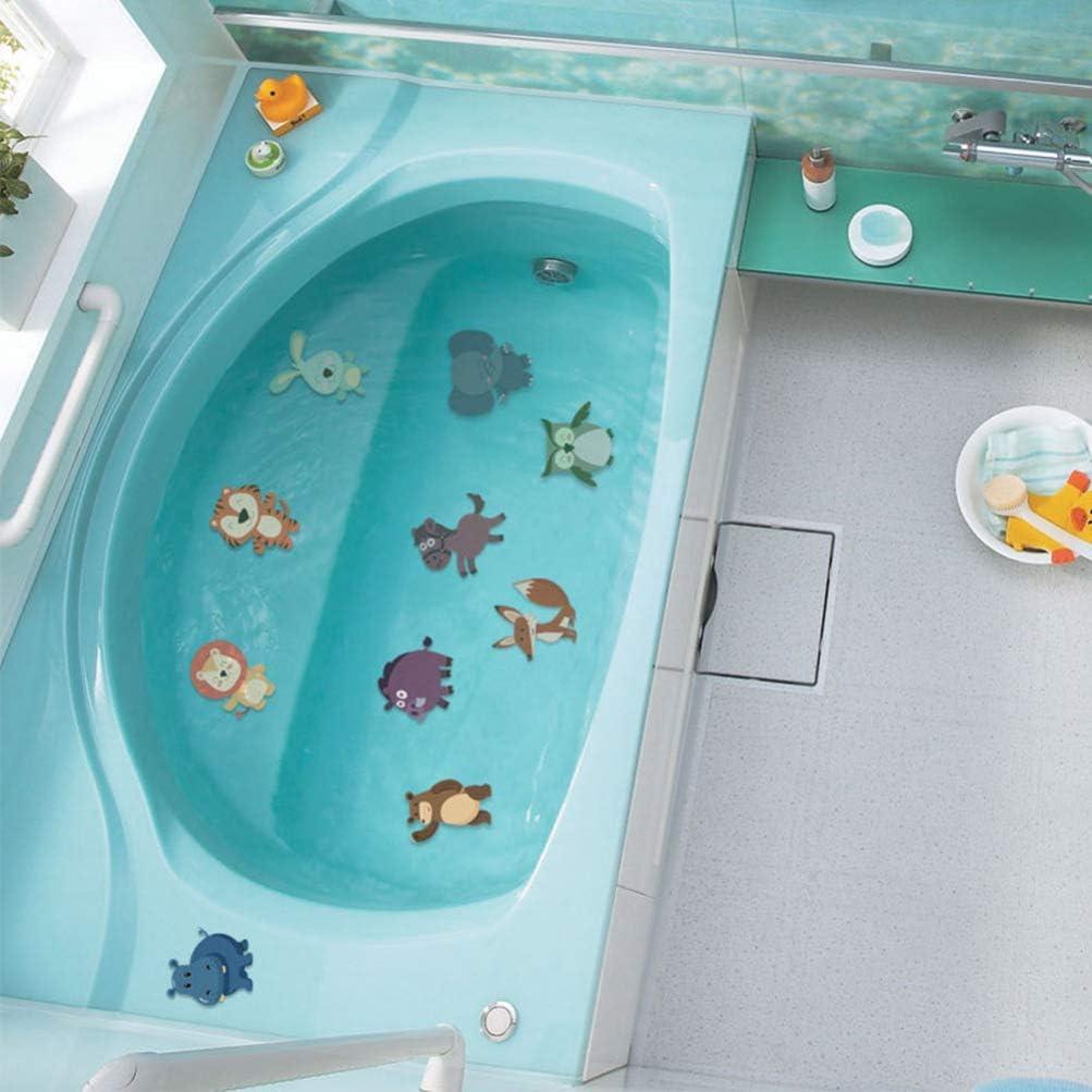 YARNOW Anti-Rutsch-Aufkleber wasserdichte Aufkleber PVC-Aufkleber Bad Sicherheitsaufkleber Tier Bad Aufkleber f/ür zu Hause Badezimmer