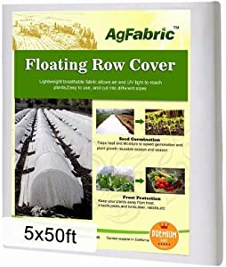 Agfabric Floating Row Covers 5x50Ft Plant Covers Freeze Protection, Row Covers for Vegetables