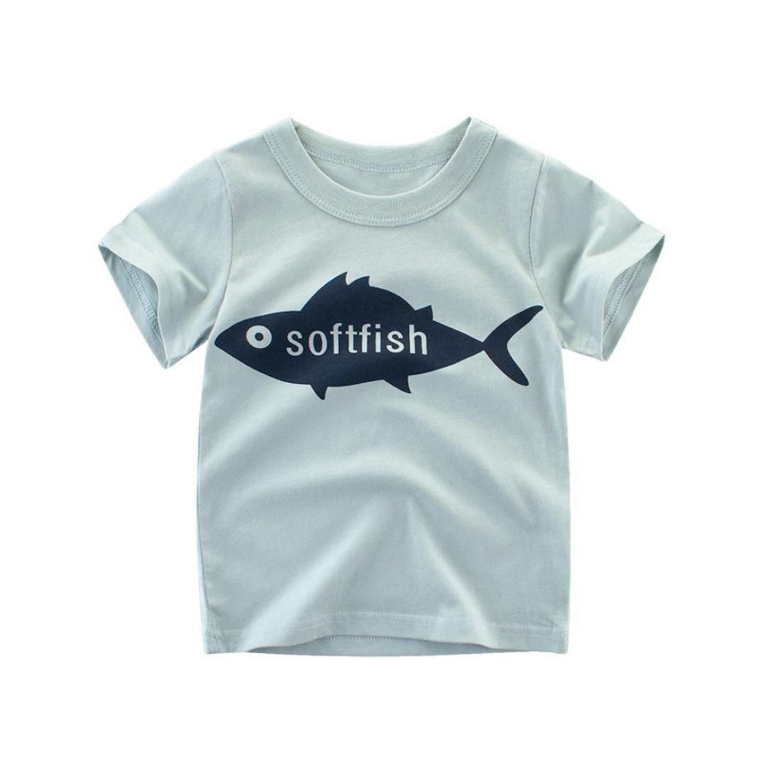 Staron Short Sleeve Baby Boys T Shirts Tops Clothes Summer Cartoon Tee Outfits