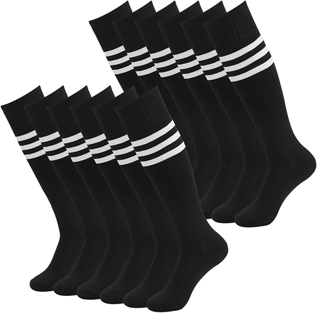 diwollsam Unisex Soccer Socks Knee High Long Tube Sport Team Socks 2//6//8 Pairs