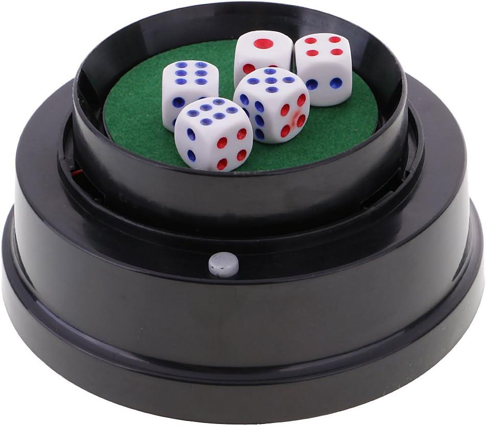 MagiDeal Conjunto de Bolas de Dados / Taza de Dados Eléctrica con Soporte para Juego de Mesa: Amazon.es: Juguetes y juegos