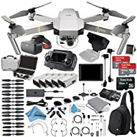 Platinum DJI Mavic Pro Quadcopter Drone + Racing Edition Goggles + 5 Batteries + DJI CrystalSky 7.85 Screen