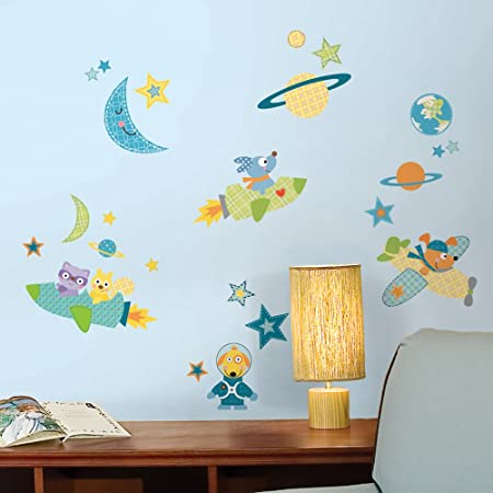 RoomMates Repositionable Childrens Wall Stickers Rocket Dog