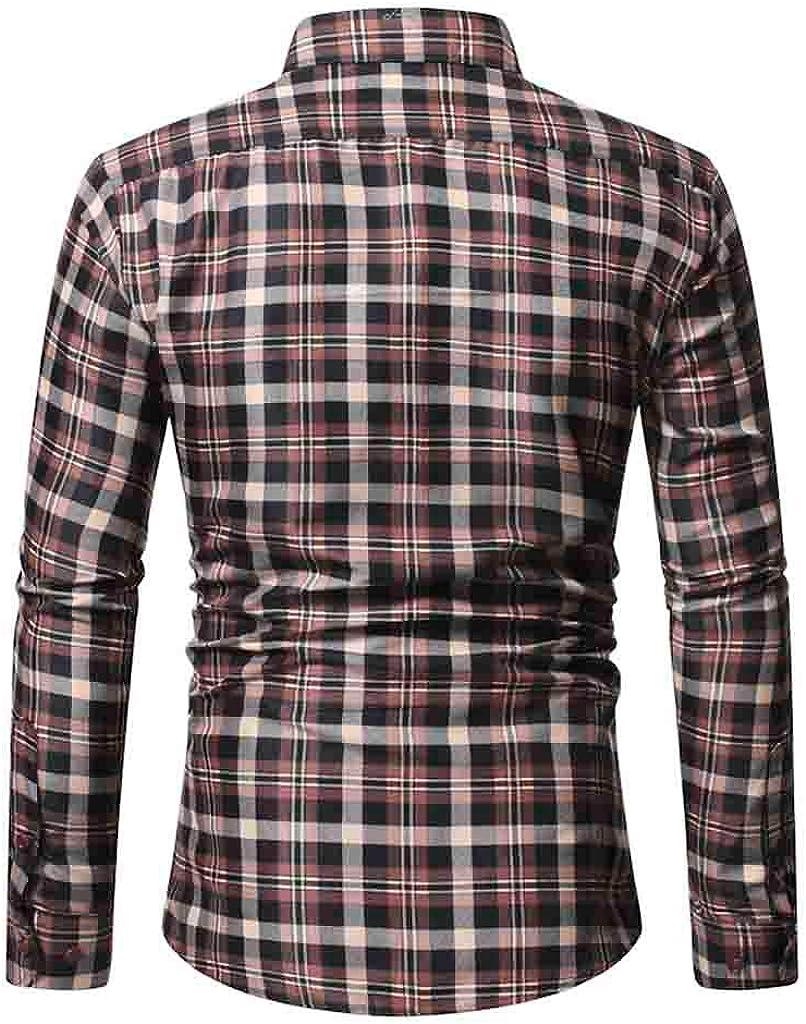 Camisa a Cuadros Casual Camisa para Hombre Camisa de ...