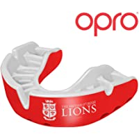 Opro Silver Self-Fit British & Irish Lions Official Mouth Guard Gum Shield for Rugby, Football, Martial Arts, Hockey, Boxing, Contact Sports - 18 Month Warranty (Red Limited Edition)