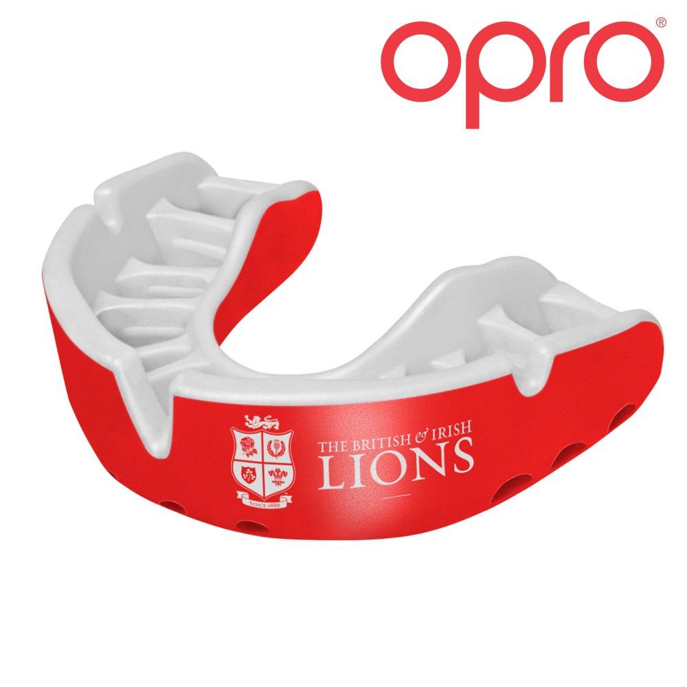 British & Irish Lions 2017Silber Erwachsene Mundschutz, Rot/Weiß Rot/Weiß Opro