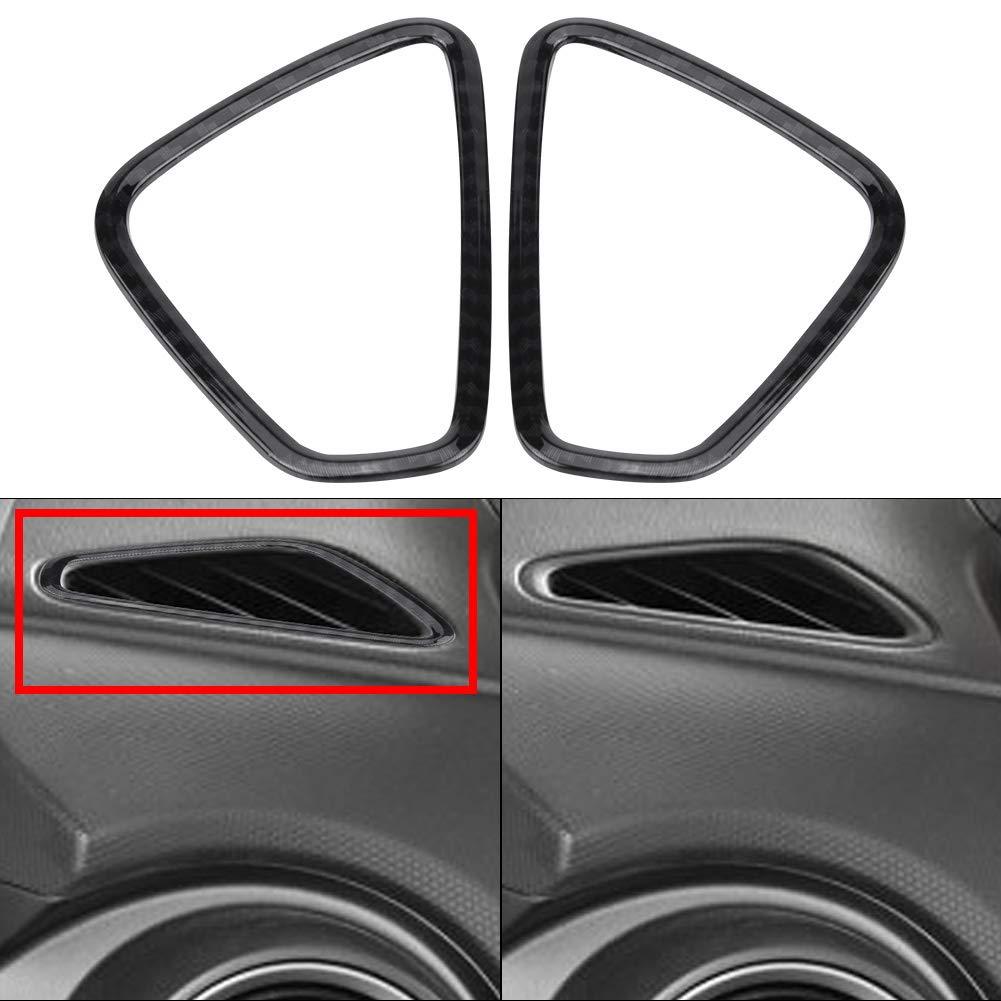 Carcasas de la cubierta de ventilaci/ón de aire del lado delantero del auto fibra de carbono Marco de ventilaci/ón de aire frontal para 2017-2020 SUV