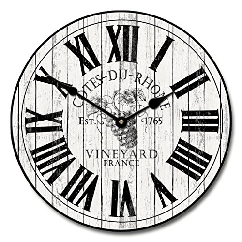 wine barrel wall clock - 6