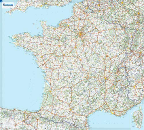 carte routière michelin france France encapsulated wall map (Michelin) (Michelin Wall Maps